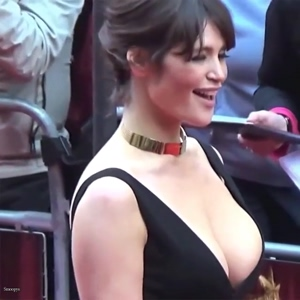 I couldn't hold it for Gemma Arterton and her amazing cleavage!