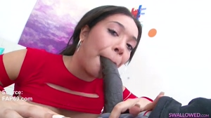 Choking on a Big Black Cock