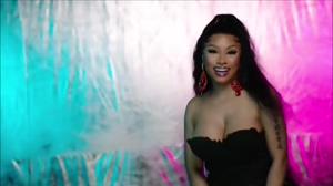 Nicki Minaj tits jiggle like they are all natural.
