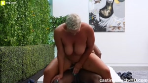 Short Haired Milf Riding Black Cock