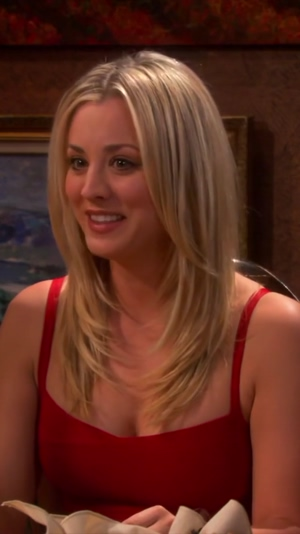 Kaley Cuoco is so ready to feel two cocks playing in her cleavage...