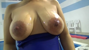 Cum covered tits