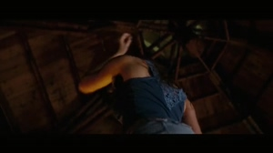 Julianna Guill dancing with covered plots in Friday The 13th