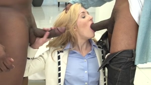 2 Big Black Dicks for Rich White Girl