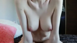 Cute Redhead Babe with Big tits Rides Cowgirl