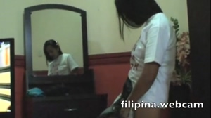 Sexy and cute Filipina girls with big tits party in hotel in Angeles City Philippines