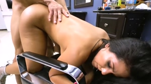 Big Ass Brunette Gets Hard Fuck
