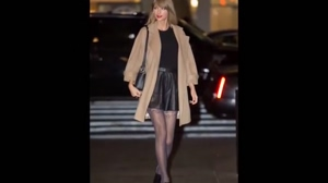 TAYLOR SWIFT LEATHER SKIRT HOT STOCKINGS