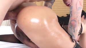 Luscious Maple oiled and fucked