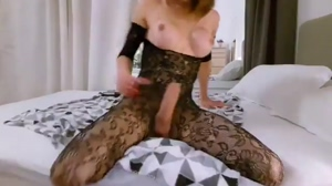 Powerful Shemale Cock in Body Stocking