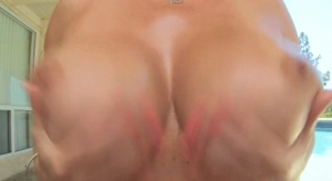 Few things beat a pair of huge, oily tits