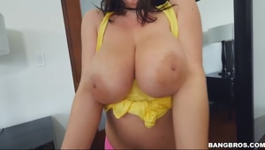 Stepsister Takes Selfies of Her huge Tits - Angela White