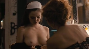 Emily Meade topless & groped by Maggie Gyllenhaal
