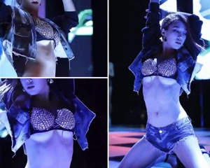 Duyoo From KPop Group Switch Shows Sexy Under Boobs in Possible Wardrobe Malfunction