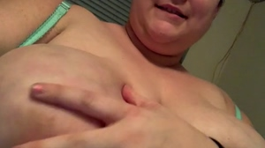 I'm getting all horny rubbing my boobs like this