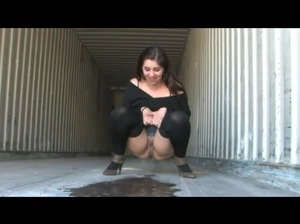 Girl in Empty Container Lorry