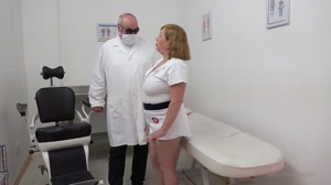 Sexy big boobs aged nurse