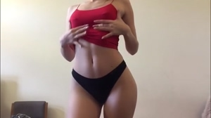 Panties Dance with Small Pierced Nipples