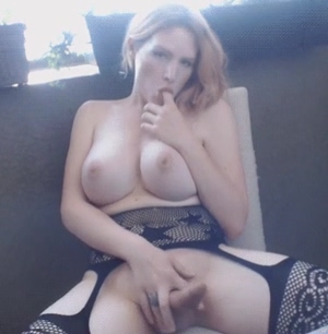 Blonde with big boobs and a hard cock