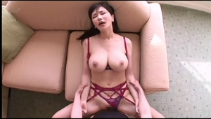 Anri Okita bouncing boobs sexy lingerie