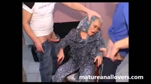 granny effie rough gangbang