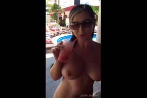 Drinking And Shaking Tits