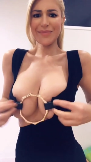 Too small for her boobs