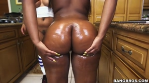 Spicy J & Nina Rotti Showing Their Big Asses