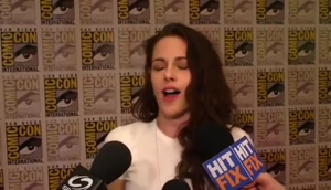 The mics reminded Kristen Stewart of all the times she's been gangbanged