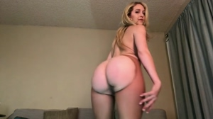 Ass Shaking in Nude Pantyhose