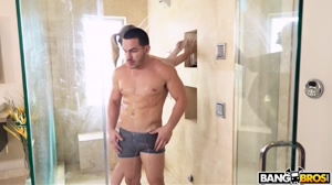 Busty Mom Fucking The Stepson In The Shower