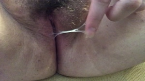 Playing with my hairy wet pussy