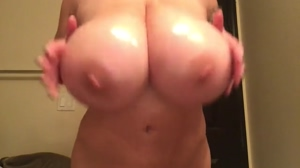 Leanne oiled tit play