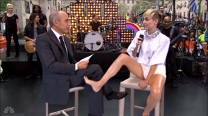 Miley Cyrus teases the interviewer