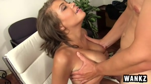 Cassidy Banks' tits get fucked and jizzed on