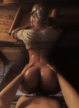 Ciri pounded from behind