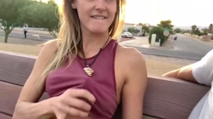 Girl Flashing Tits on the Roadside