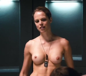 Cecile Breccia topless in Starship Troopers 3