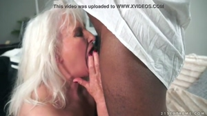 Grey Granny Sucking On Black Cock GIF