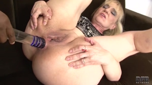 playing with the fanny of a hot Euro granny
