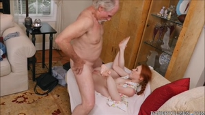 Dolly Little gets fucked by old dong