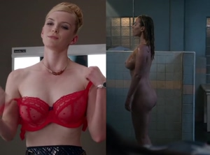 Betty Gilpin's 34DD tits and ass