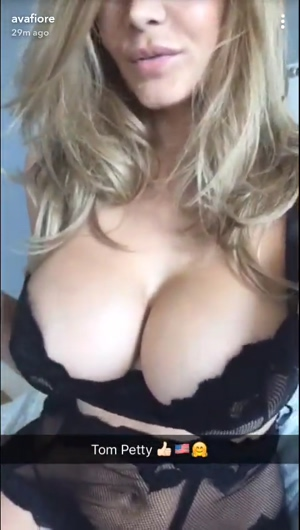 Milf Ava Fiore Showing Off Her Fake Tits In Lingerie