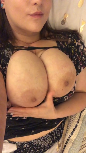 Big tits are fun to play with.