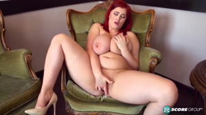 Busty Redhead Alexis Faye Plays with Her Pussy