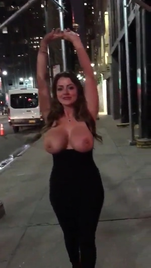Tits Out On The Street