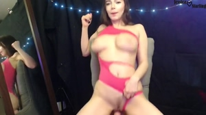 Jessica Starling Bouncing On A Dildo, Big Tits!