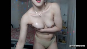 Gorgeous College Girl With Nice Firm Tits Teasing On Webcam