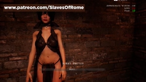 Slaves of Rome - in-game Video - Julia Undressing