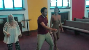 Dancing naked in church